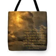 Mountain Shower Tote Bag