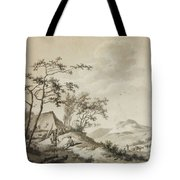 Mountainous Landscape With Three Ramblers Tote Bag