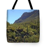 Mountains And Valleys Tote Bag