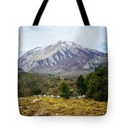 Mountains In The Background X Tote Bag
