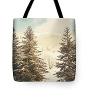 Mountains In The Background Xi Tote Bag