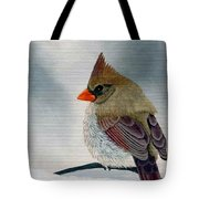 Mrs. Cardinal Tote Bag by Tracey Goodwin