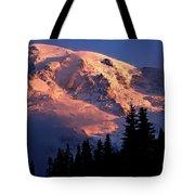 Mt. Rainier Dawn And Clouds Tote Bag