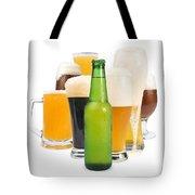 Mug Filled With Beer And Bottles Tote Bag by Deyan Georgiev