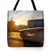 Museum Of Contemporary Art In Zagreb Exterior Detail Tote Bag