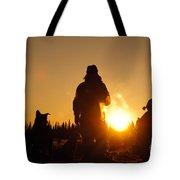 Mushers At Sunrise Tote Bag