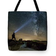 Mushroom Rocks Phenomenon Under The Night Sky Tote Bag