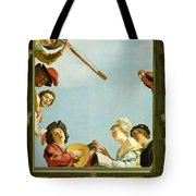 Musical Group On A Balcony Tote Bag