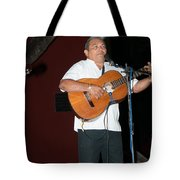 Musicians In The Park Candelaria In Valladolid Tote Bag