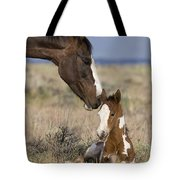 Mustang Mare And Foal Tote Bag