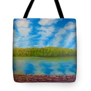 My Serenity Lies In A Place Between Heaven And Earth Tote Bag