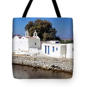 Mykonos Church Tote Bag