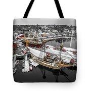Mystic Seaport In Winter Tote Bag