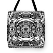 Mystical Eye - Abstract Black And White Graphic Drawing Tote Bag