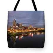 Nashville Tennessee Skyline Sunrise  Tote Bag