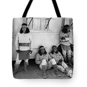 Native American Extras Dressed As Apache Warriors The High Chaparral Set Old Tucson Arizona 1969 Tote Bag