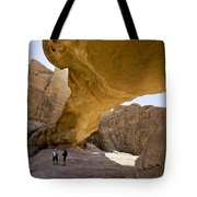 Natural Arch In Wadi Rum Tote Bag by Michele Burgess