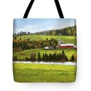 New England Farm Tote Bag by Betty LaRue