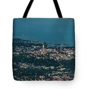 New Rochelle Real Estate Aerial Photo Tote Bag