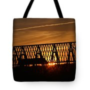 New Roof At Sunset Tote Bag
