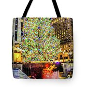 New York City Christmas Tree Tote Bag