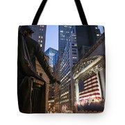 New York Wall Street Tote Bag