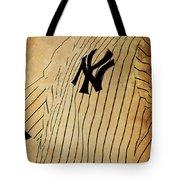 New York Yankees Baseball Team Vintage Card Tote Bag
