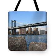 New York's Manhattan Bridge Tote Bag