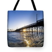 Newport Pier Curl Tote Bag