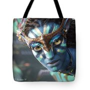 Neytiri - Gently Cross Your Eyes And Focus On The Middle Image Tote Bag