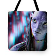 Neytiri - Use Red And Cyan 3d Glasses Tote Bag
