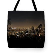 Night At Griffeth Observatory Tote Bag