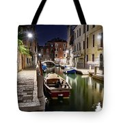 Night Canal Tote Bag