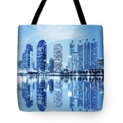 Night Scenes Of City Tote Bag