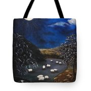 Night Watch In The Highlands Tote Bag
