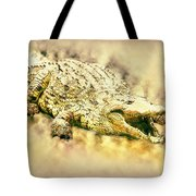 Nile River Crocodile Tote Bag