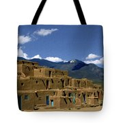 North Pueblo Taos Tote Bag by Kurt Van Wagner