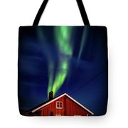 Northern Lights Chimney Tote Bag