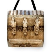 Noto, Sicily, Italy - Detail Of Baroque Balcony, 1750 Tote Bag