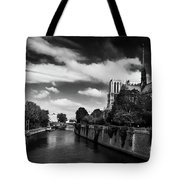 Notre Dame Cathedral And The River Seine - Paris Tote Bag