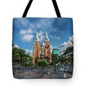Notre-dame Cathedral Basilica Of Saigon, Officially Cathedral Basilica Of Our Lady Of The Immaculate Tote Bag