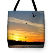 November Sunset Tote Bag by Frozen in Time Fine Art Photography