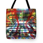 Nude With Wine Glass Tote Bag