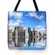 Ny East River Tote Bag