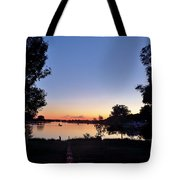 Obear Park And The Danvers River At Sunset Tote Bag