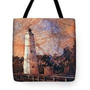 Ocracoke Island Lighthouse Tote Bag
