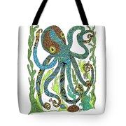 Octopus' Garden Tote Bag by Barbara McConoughey