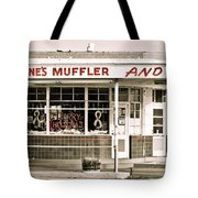 Old Art Deco Filling Station Tote Bag