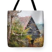 Old Barn At Cades Cove Tote Bag