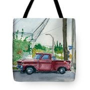 Old Chevy On Wallnut Tote Bag